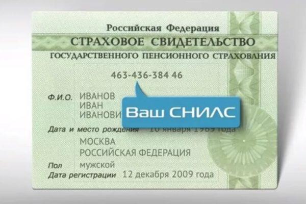 Карточка СНИЛС в России больше не нужна